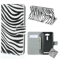 Housse etui coque portefeuille PU cuir pour Asus Zenfone 2 Laser ZE500KL + film ecran - ZEBRE