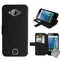 Housse etui coque pochette portefeuille pour Acer Liquid Z530s + film ecran - NOIR