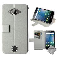 Housse etui coque pochette portefeuille pour Acer Liquid Z530s + film ecran - BLANC