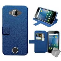 Housse etui coque pochette portefeuille pour Acer Liquid Z530s + film ecran - BLEU