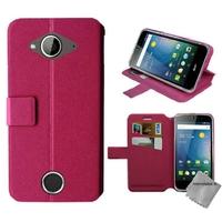 Housse etui coque pochette portefeuille pour Acer Liquid Z530s + film ecran - ROSE