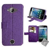 Housse etui coque pochette portefeuille pour Acer Liquid Z530s + film ecran - MAUVE