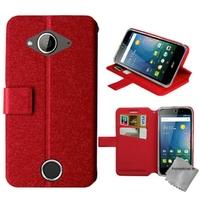 Housse etui coque pochette portefeuille pour Acer Liquid Z530s + film ecran - ROUGE