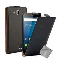 Housse etui coque pochette PU cuir fine pour Acer Liquid Z530 + film ecran - NOIR