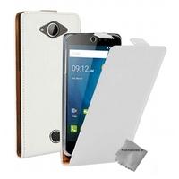 Housse etui coque pochette PU cuir fine pour Acer Liquid Z530 + film ecran - BLANC