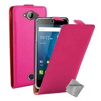 Housse etui coque pochette PU cuir fine pour Acer Liquid Z530 + film ecran - ROSE