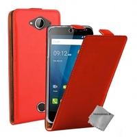 Housse etui coque pochette PU cuir fine pour Acer Liquid Z530 + film ecran - ROUGE