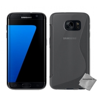 Housse etui coque silicone gel fine pour Samsung G935 Galaxy S7 Edge + film ecran - BLANC TRANSPARENT