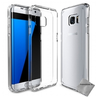 Housse etui coque gel Samsung G935 Galaxy S7 Edge + film ecran - TPU TRANSPARENT