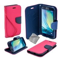 Housse etui coque pochette portefeuille pour Samsung Galaxy A5 (version 2016) + film ecran - ROSE / BLEU