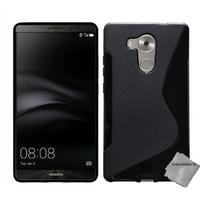 Housse etui coque pochette silicone gel fine pour Huawei Ascend Mate 8 + film ecran - NOIR