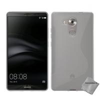Housse etui coque pochette silicone gel fine pour Huawei Ascend Mate 8 + film ecran - BLANC TRANSPARENT