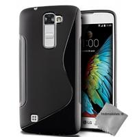 Housse etui coque pochette silicone gel fine pour LG K10 + film ecran - NOIR