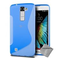 Housse etui coque pochette silicone gel fine pour LG K10 + film ecran - BLEU