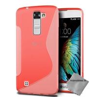 Housse etui coque pochette silicone gel fine pour LG K10 + film ecran - ROUGE