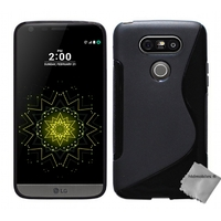 Housse etui coque pochette silicone gel fine pour LG G5 + film ecran - NOIR