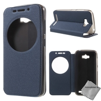 Housse etui coque portefeuille view case pour Asus Zenfone Max ZC550KL + film ecran - BLEU
