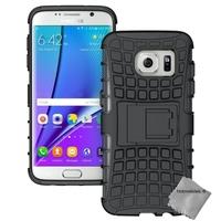 Housse etui coque anti choc pour Samsung G935 Galaxy S7 Edge + film ecran - NOIR