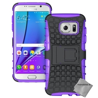 Housse etui coque anti choc pour Samsung G935 Galaxy S7 Edge + film ecran - MAUVE