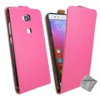 Housse etui coque pochette PU cuir fine pour Huawei Honor 5x + verre trempe - ROSE