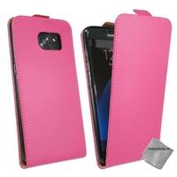 Housse etui coque pochette PU cuir fine pour Samsung G935 Galaxy S7 Edge + film ecran - ROSE