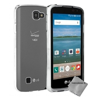 Housse etui coque silicone gel fine pour LG K4 + film ecran - TPU TRANSPARENT