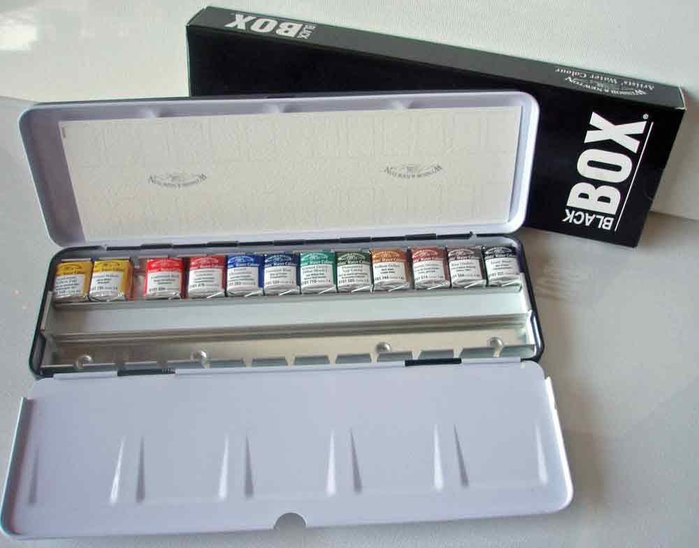 Coffret Aquarelle Winsor & Newton - Black Box - 12 1/2 godets
