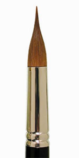 Pinceau Martre Kolinsky - rond  pointe dessinateur - Léonard 7733