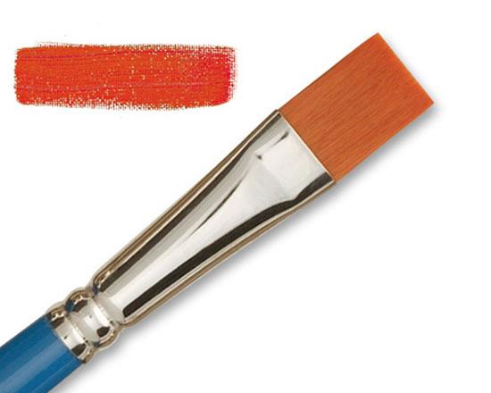 Pinceau plat long - Hobby Kaërell Bleu - Raphaël Série 8254