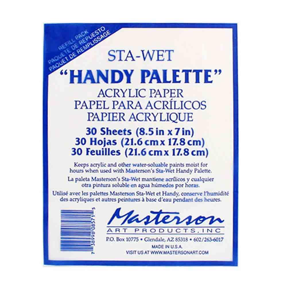 Papier pour palette humide Handy Sta-wet - Masterson - 30 feuilles