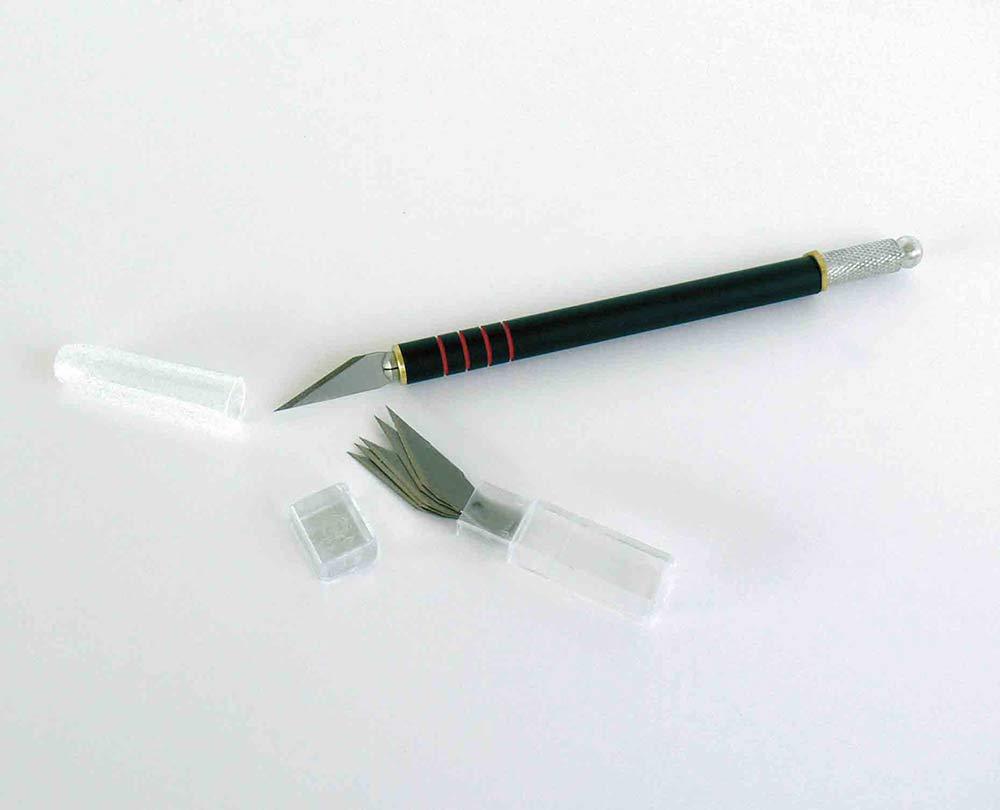 GRAPHO\'CUT Kit couteau N°1 + 5 lames N°1 - avec capuchon