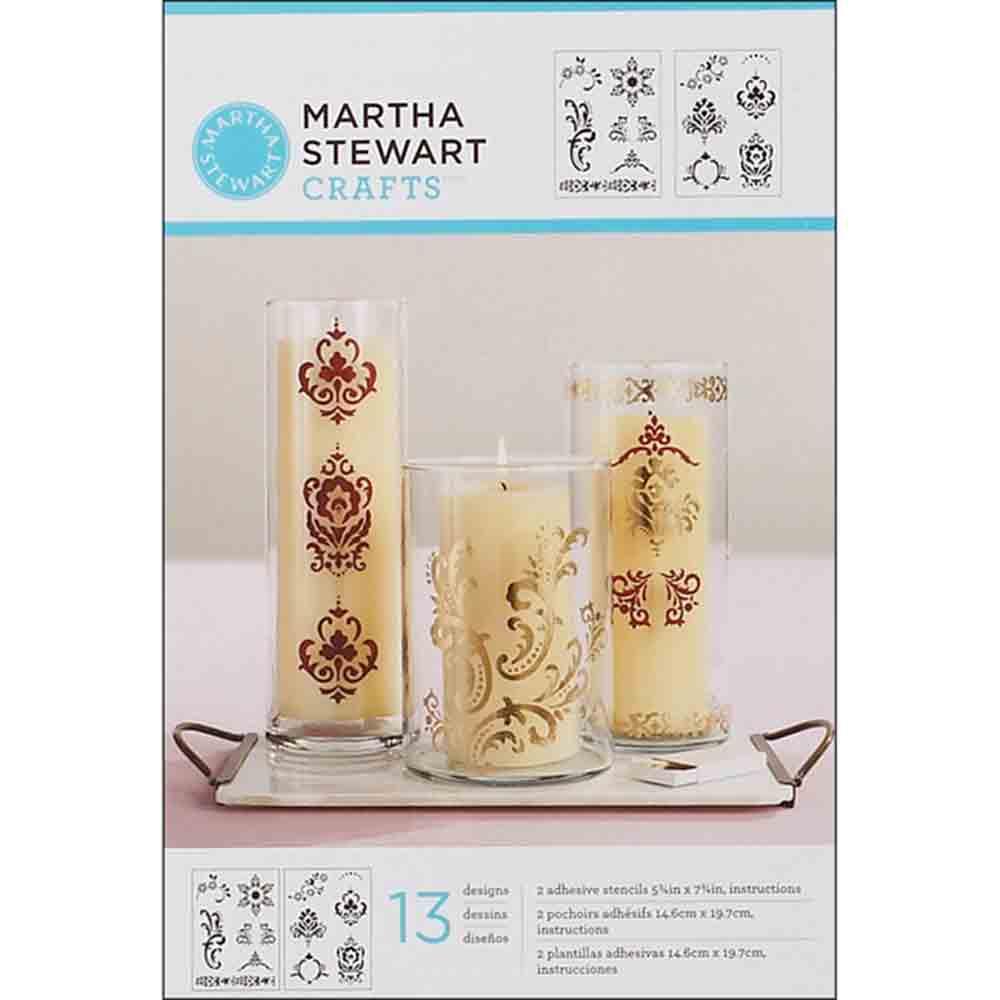Pochoirs adhésifs - Martha Stewart - motifs ornementaux