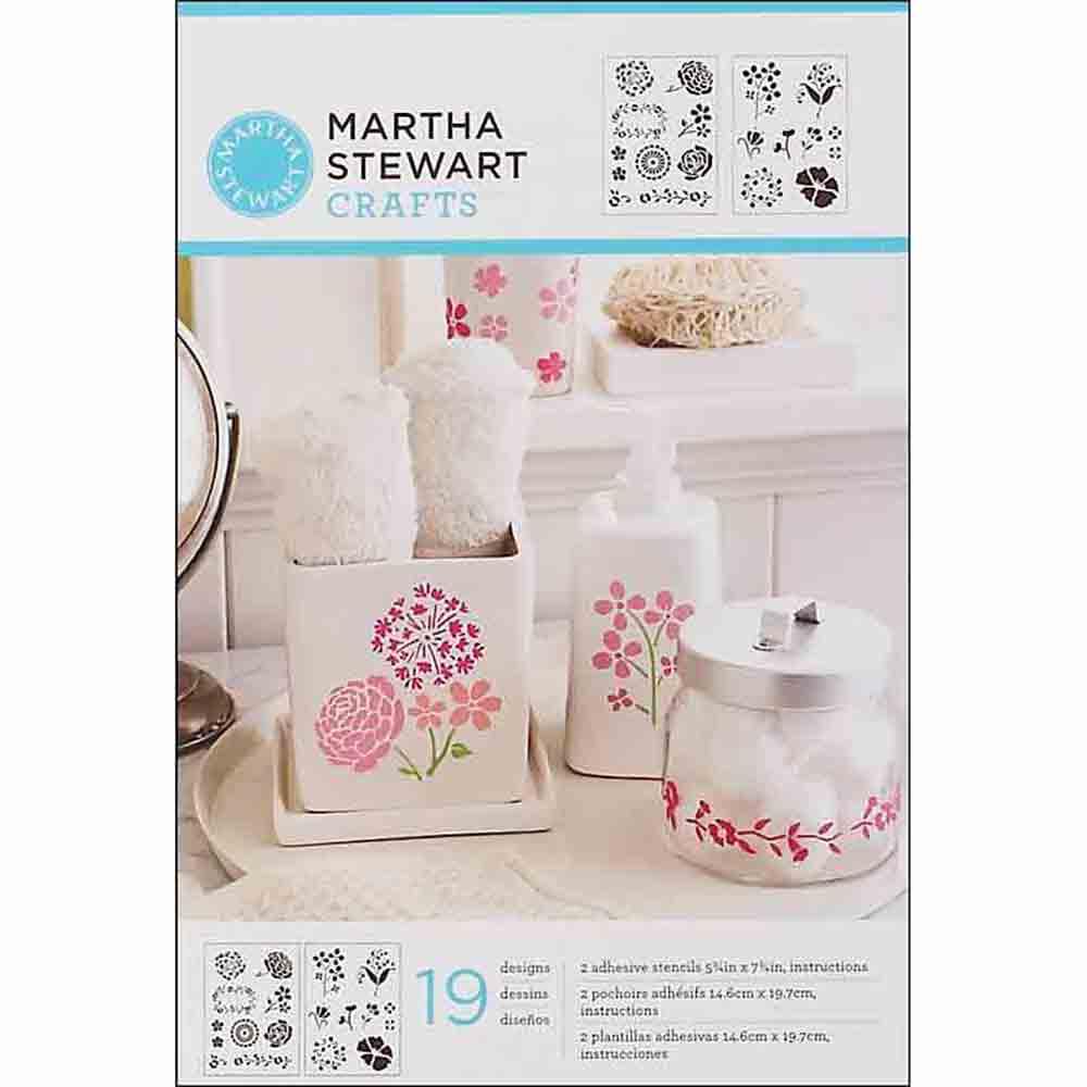 Pochoirs adhésifs - Martha Stewart - motifs floraux