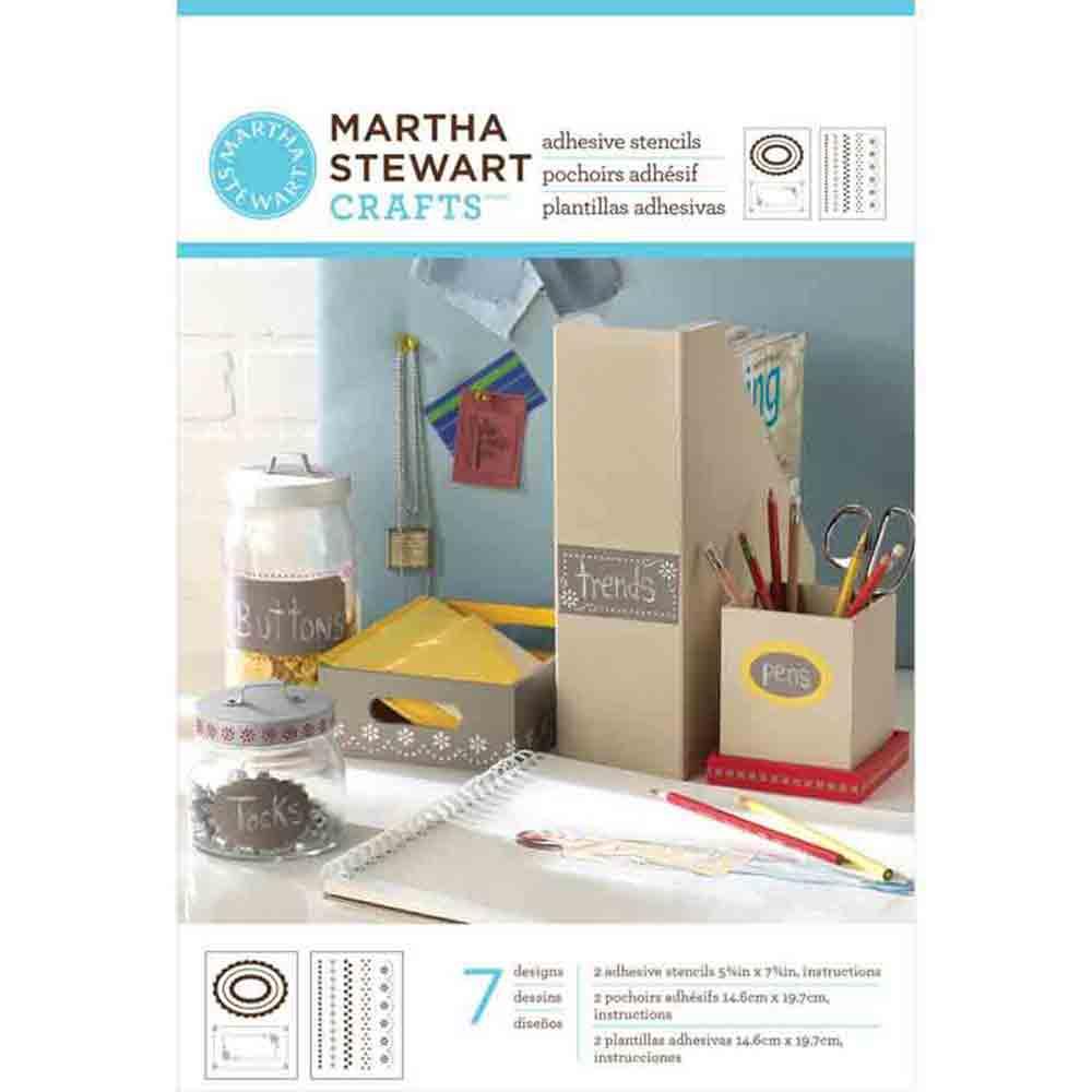 Pochoirs adhésifs - Martha Stewart -Bordures & cadres