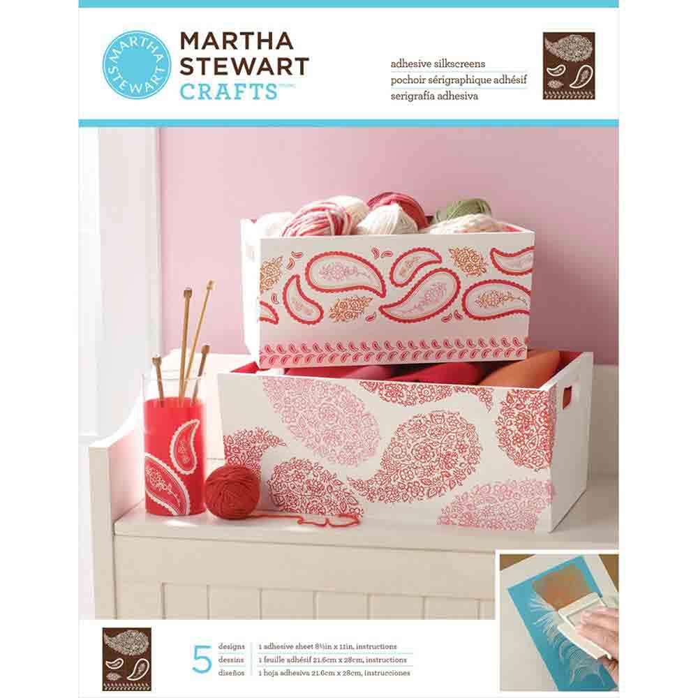Pochoirs sérigraphiques adhésifs - Martha Stewart - cachemire floral