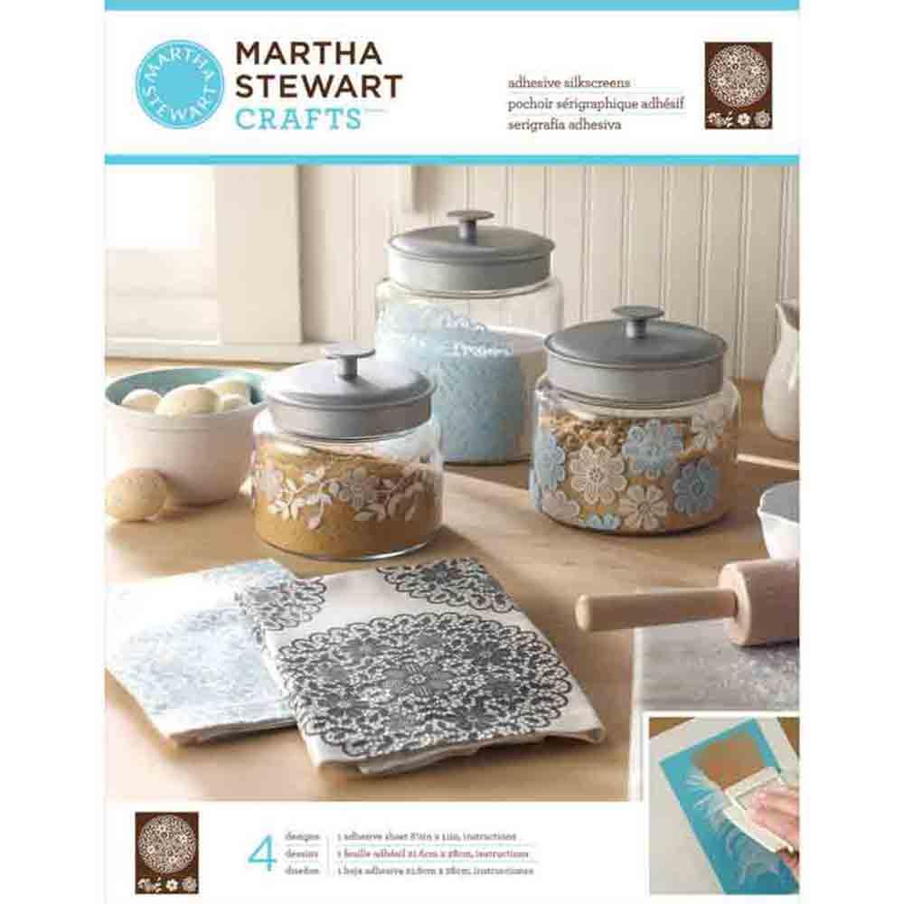 Pochoirs sérigraphiques adhésifs - Martha Stewart - napperon à fleurs