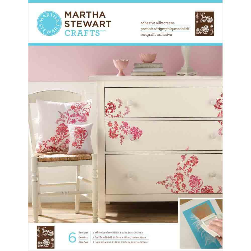 Pochoirs sérigraphiques adhésifs - Martha Stewart - Fleurs exotiques