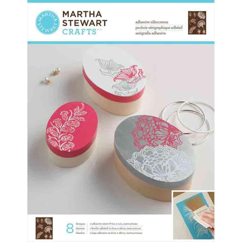 Pochoirs sérigraphiques adhésifs - Martha Stewart - Fleurs sauvages