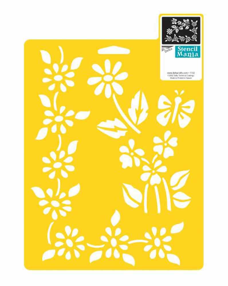 Pochoirs Delta Creative - motifs floraux