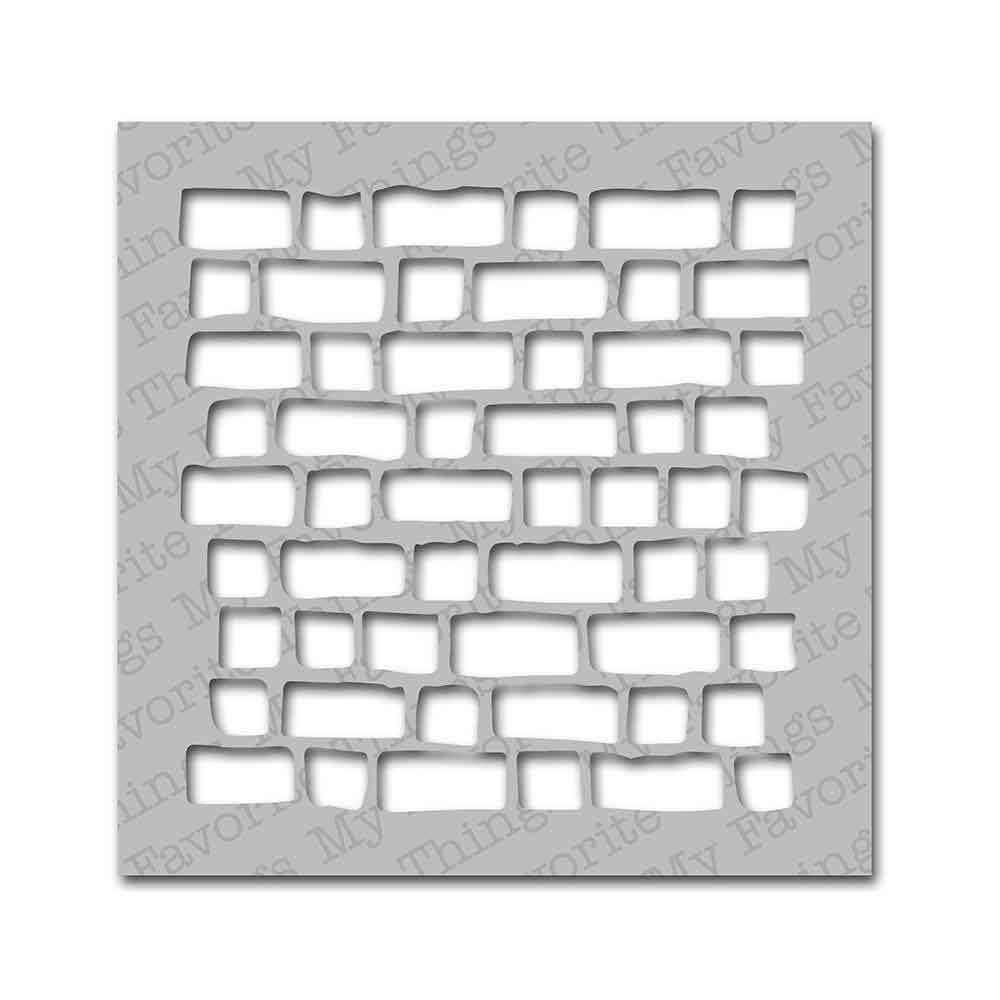 Pochoir - mur de briques
