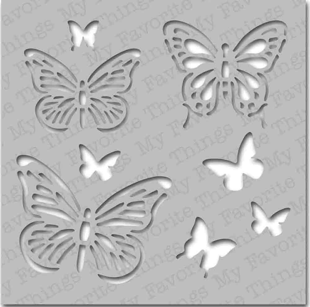 Pochoir motif Papillons