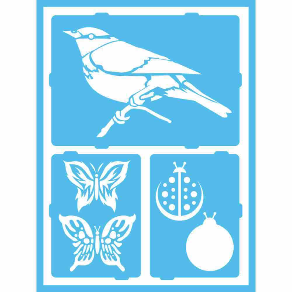 Pochoir des animaux volants - Americana Gloss Enamels