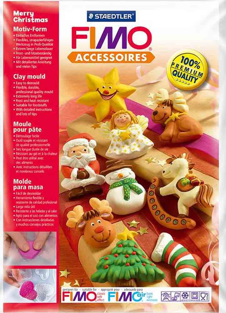 Moule pour Fimo: Joyeux de Noël