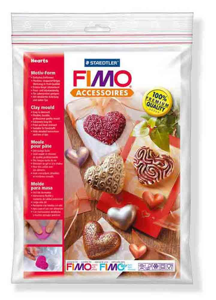 Moule pour Fimo: Coeurs