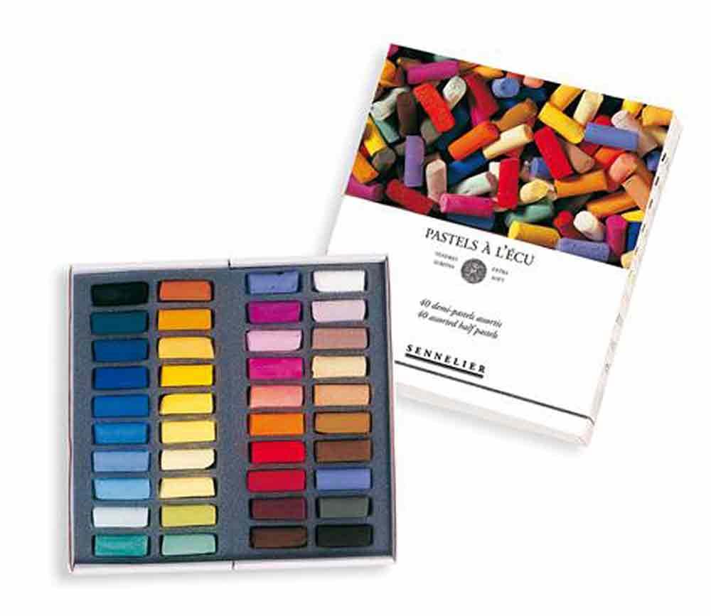 Etui en carton de  24 pastels à l\'Ecu - Set introduction