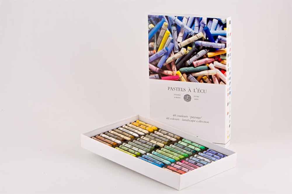 Etui en carton de  48 pastels à l\'Ecu