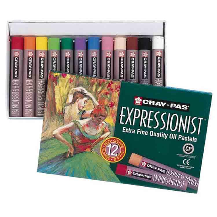 Etuis de 12 pastels à l\'huile Extra fins Cray-Pas Expressionnist