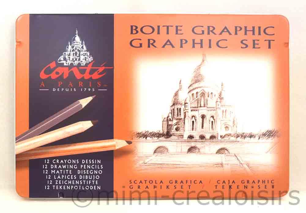 Boîte métal Graphic set  Conté à Paris