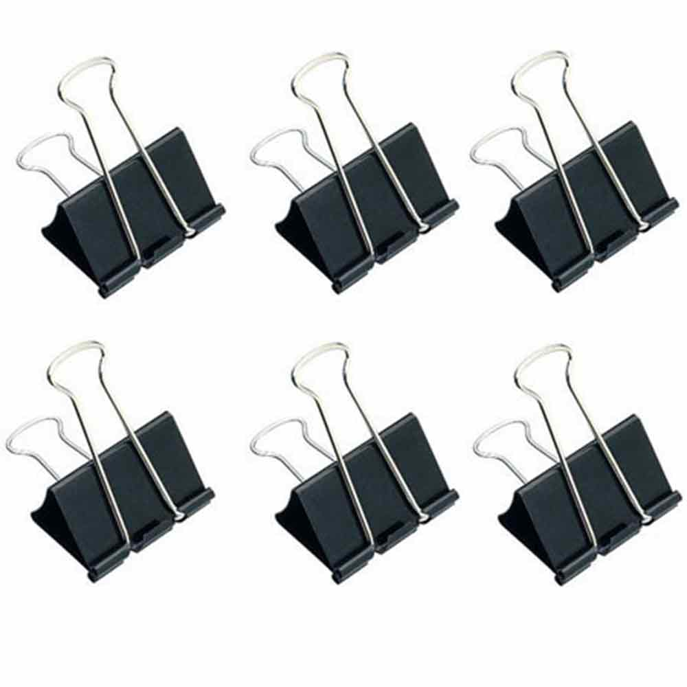 Lot de 6 pinces à dessin double clip - 32mm