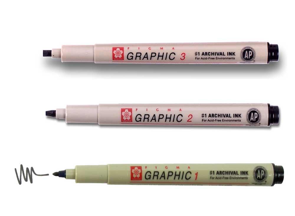 Pigma graphic - dessin et calligraphie - noir